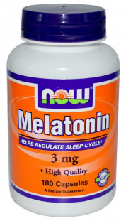 NOW Melatonin 3 мг (180 кап)