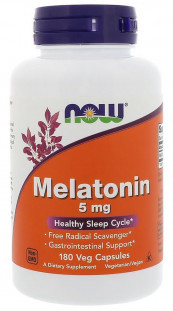 NOW Melatonin 5 мг (180 кап)
