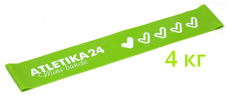 Фитнес резинка Mini Bands Зеленая Atletika24 (4 кг)